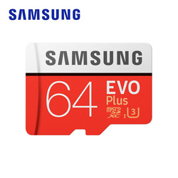 SAMSUNG Memory Card EVO Plus 64GB 100MB/s Micro SD Card TF C10 U3 UHS-I 4K UHD Flash Memory for Smartphone Tablet with Adapter