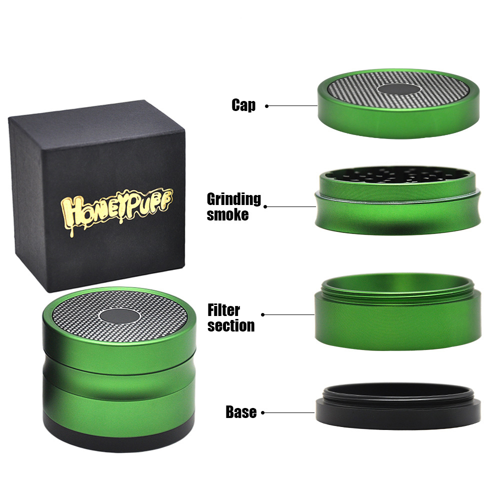 63 MM 4 Layers Tobacco Grinder Ancient Shape Herb Grinder Aluminum Spice Crusher grinder Tobacco Grinder
