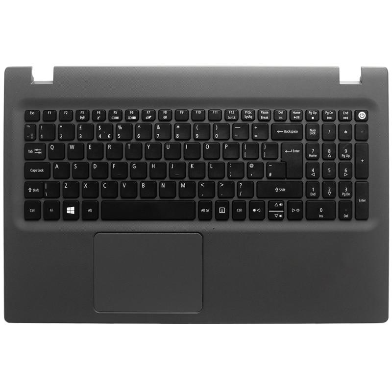 New UK Laptop Keyboard For Acer Aspire E5-573 E5-573T E5-573TG E5-573G E5-522  E5-532 E5-722 E15 E5-582P 507H 56AV With C Case