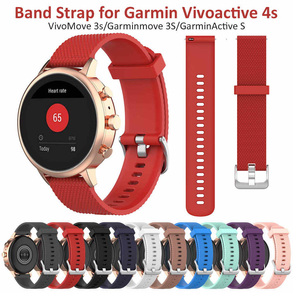 Red Quick Release Band Voor Garmin Vivoactive 4 S/Vivomove 3 S/Garminmove 3 S Sport Wrist Strap voor Withings Staal Hr 36 Mm Horlogeband