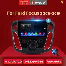 Junsun V1 Carplay Android 10 AI Control de voz auto Radio Multimedia reproductor de vídeo para Ford Focus 3 2011-2019 navegación no 2din