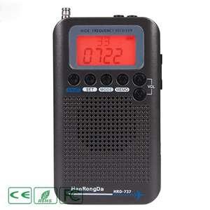 Portable Radio Stereo-Receiver HRD-737 Air/vhf-Band Alarm-Clock with Gray Dark High-Sensitivity
