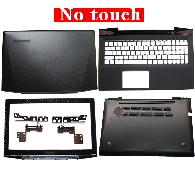 Laptop LCD Back Cover/Front Bezel/Hinges/Palmrest/Bottom Case For Lenovo Y50 Y50-70 Non Touch AM14R000400 With Touch AM14R000300