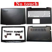 Capa traseira para laptop lcd, moldura frontal/dobradiça/palmrest/capa inferior para lenovo y50 Y50-70, sem toque am14r000400 com touch am14r000300