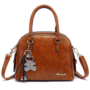 Image 5 - Leather Tote Bags For Women Handbags 2019 Luxury Designer Shoulder Crossbody Ladies Hand Bag Woman Handtas Torebki Damskie AB21