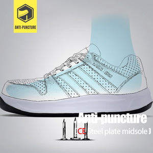 Image 3 - MODYF Men Safety Shoes Steel Toe Work Shoes Flats Casual Protective Footwear Sneaker