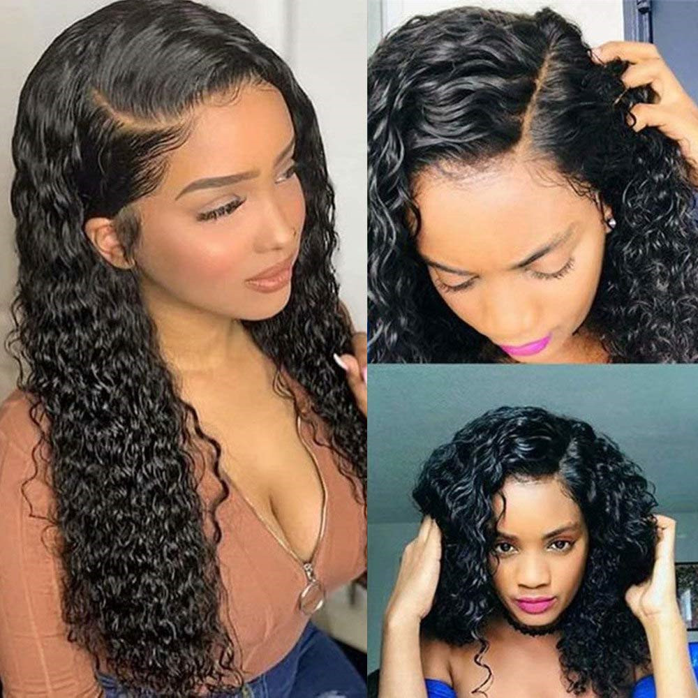 Lace Front Human Hair Wigs 360 Lace Frontal Wig Kinky Curly Human Hair Soft Wig With Baby Hair Ponytail