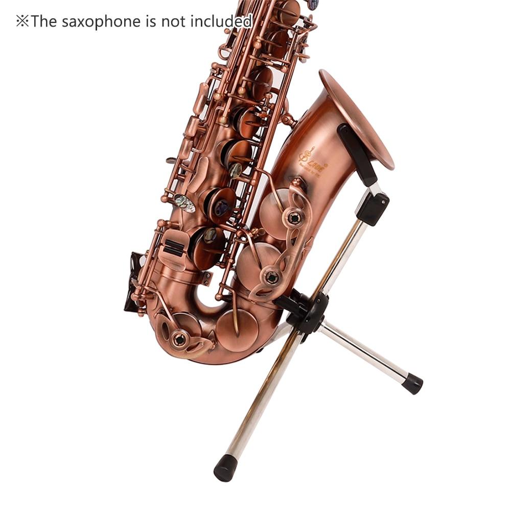 Sax Holder Portable Foldable Metal Leg Tripod Stand Detachable Holder Bracket For Alto Saxophone Accessories High Quality