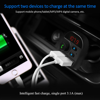 FM Transmitter Car Wireless Bluetooth FM Radio Modulator Car Kit USB Car Charger Handsfree Aux Audio MP3 Player Car MP3 Radio Ad image