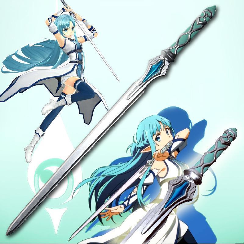 Anime Sword Art Online Rubber Sword Weapon Foam Toy Simulation Cosplay Yuuki Asuna Elucidator Costume Prop Weapon Toys For Teens