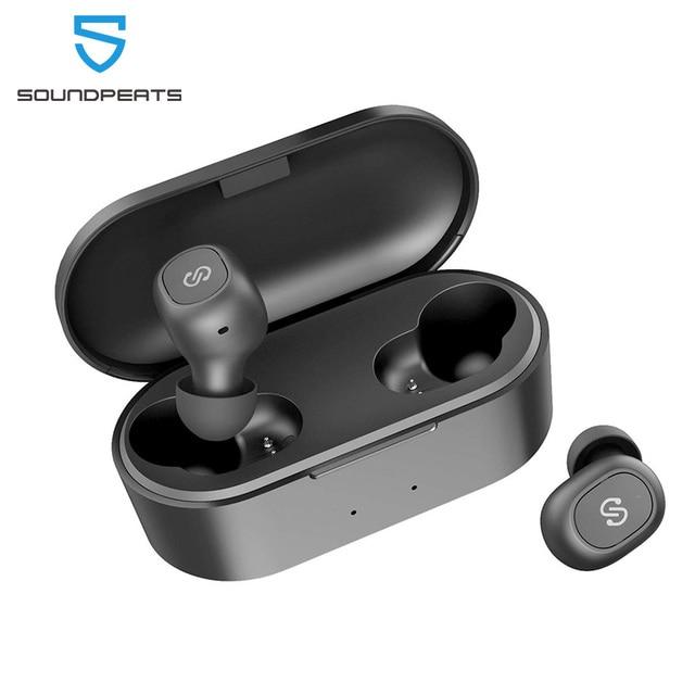 SoundPEATS TWS 5.0 Bluetooth sans fil écouteurs True Wireless écouteurs dans loreille stéréo avec Microphone Binaural appels casque