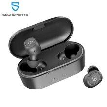 SoundPEATS auriculares TWS, inalámbricos por Bluetooth 5,0, auriculares intrauditivos estéreo con micrófono, auriculares para llamadas binaurales