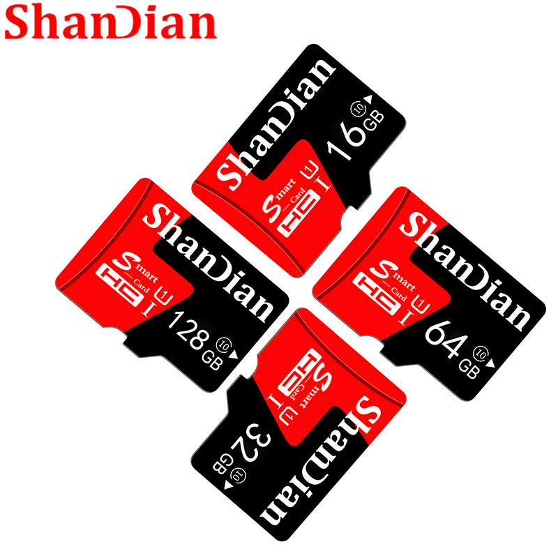 SHANDIAN Mini SD Card 4GB 8GB 16GB Class 6 Real Capacity 32GB Memory SD Card High Speed Smart SD Card TF Card Free Shipping