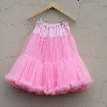 Модная разноцветная пышная Мягкая юбка-пачка длиной 24 дюйма для женщин и девочек; юбка-американка для балерины; вечерние женские юбки для танцев