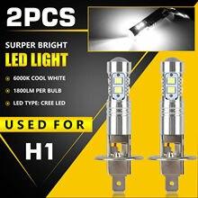 H1 LED Headlight-Bulbs Car-Accessories Auto-Light Low-Beam Motorcycle 6000K 2pcs Car-High