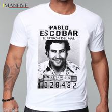 Pablo Escobar T Shirt Colombian Drug Lord Cartel Money Mens Summer Camiseta Tshirt funny Tops Tees