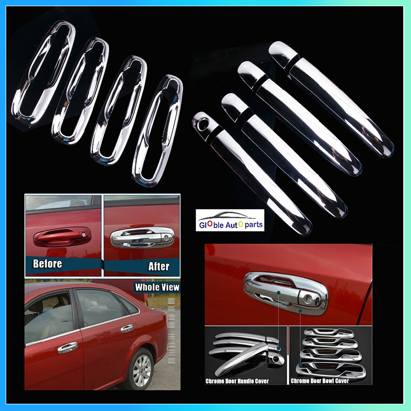 Car Door Handles Covers For Chevrolet Lacetti Optra Daewoo Nubira Suzuki Forenza Holden Stickers Chrome Exterior DQ-047(China)