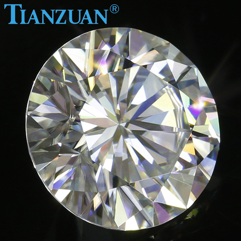 Image 5 - New  sales promotion 6.5mm GH color white Round Brilliant cut moissanites loose gems stoneLoose Diamonds & Gemstones   -