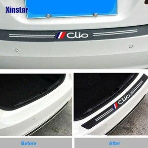 Защитная Наклейка на задний бампер из углеродного волокна для Renault Dacia Clio ZOE duster Megane TWINGO Logan KADJAR scenic sandero