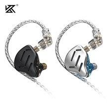 KZ – écouteurs intra-auriculaires hybrides ZAX 7BA + 1DD, casque d'écoute HIFI en métal, 16 unités d'entraînement, musique, Sport, KZ ZSX ZS10PRO AS12 AS16 DQ6 ASX