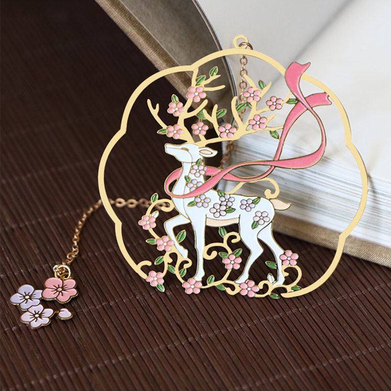 1pc Metal Book Markers Clip Cute Deer Bookmarks For Books Teacher Gifts Office School Stationery Animal Bookmark Book Supplies