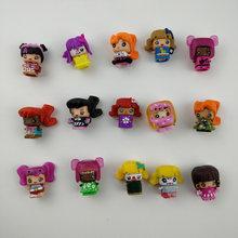 10 pçs/lote mini pinypon figura menina boneca bloco de construção kawaii bonito brinquedo lol vestir-se famosa bebê vinil polly p brinquedo presente para a menina