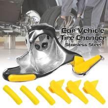 28/30mm cabeça de pássaro pneu trocador de montagem de aço inoxidável demount push-out acessórios de proteção de borda do pneu de carro ferramenta de remoção de pneus