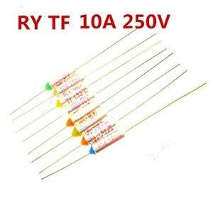 5PCS-10PCS / fuse RY TF 210 230 175 121 184 172 Degrees 210C 230C 175C 121C 184C 172C 10A 250V Metal Thermal Fuse(China)