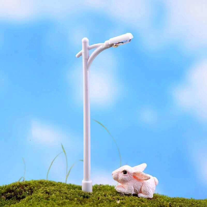 1PC DIY Mini Vintage Dekorasi Lampu Jalan Taman Peri Miniatur Moss Terarium Desktop Botol Resin Kerajinan Dekorasi untuk Rumah