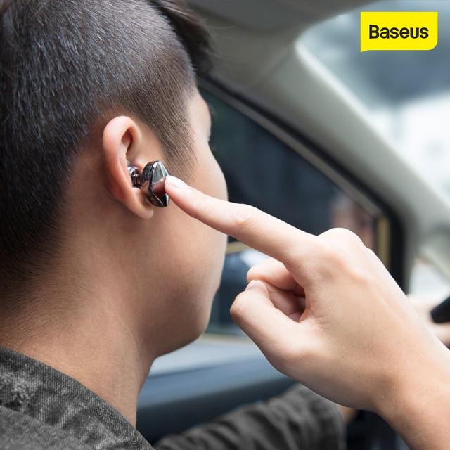Baseus Encok אחת ב אוזן אוזניות מתכת כבד בס איכות צליל מוסיקה אוזניות מיני bluetooth אוזניות fone דה ouvido sem fio