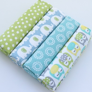New 4pcs/pack Baby Blankets Cotton Flannel Receiving Swaddle Wrap Infant Baby Stroller Soft Baby Bedsheet For Newborn Blanket receiving blankets 4pcs lot cotton flannel newborn baby blankets cotton blanket throws baby blanket grasping carpe 76 x 76cm