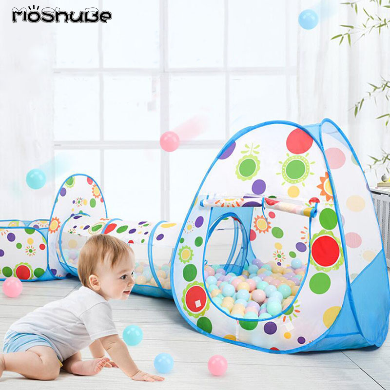 Baby Ball Pool Boys Girls Kids Ball Pit Playground Game Playhouse Activity Game Dry Pool Toy For Children​ Indoor Tents