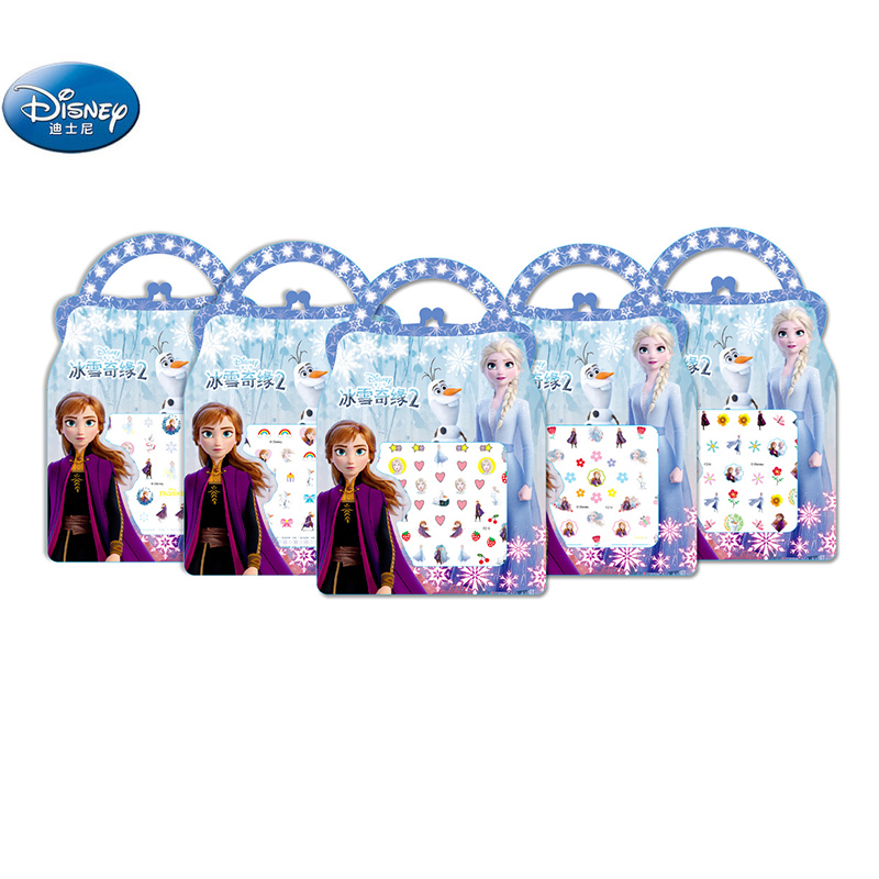 Frozen 2 Elsa Anna Nail Stickers Toy New Disney Sofia White Snow Princess Mickey Minnie Girls  Toys For Girlfriend Kids Gift