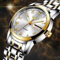 LIGE moda z najwyższej półki zegarek damski luksusowy zegarek kwarcowy ze stali nierdzewnej damski zegarek biznesowy japoński mechanizm kwarcowy Relogio Feminino w Zegarki damskie od Zegarki na