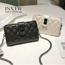 ISXTW Woman Bag 2019 New Wild Small Square Fragrance Style Fashion Chain Shoulder Messenger Black And White / A28