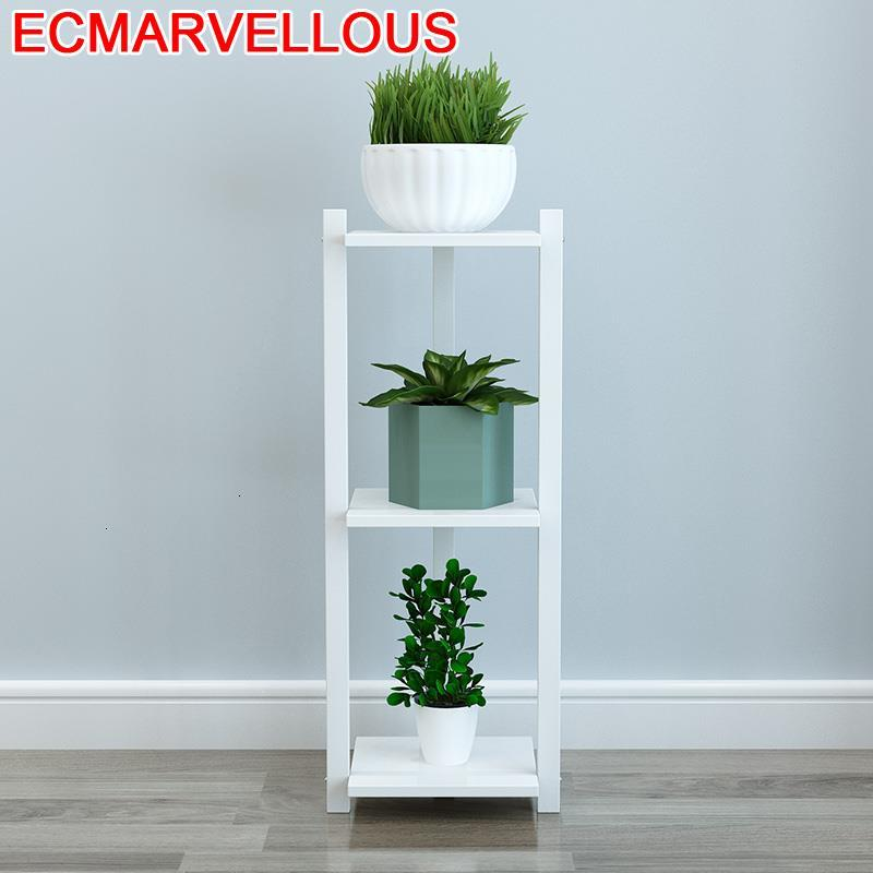 Suporte Flores Garden Shelves For Soporte Plantas Interior Rack Balcony Flower Shelf Dekoration Stojak Na Kwiaty Plant Stand