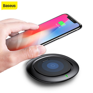 Image 1 - Baseus QI Wireless Charger for iPhone X 8 Samsung Galaxy S9 S8 Mobile Phone Desktop charger carregador sem fio fast charging