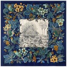 130 см * Элитный бренд дизайн шелковый шарф для женщин с цветочным