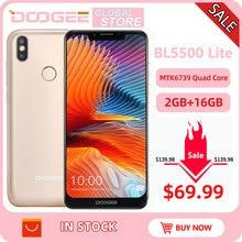 DOOGEE BL5500 Lite U-Notch Smartphone 6.19 inch MTK6739 Quad Core 2GB RAM 16GB ROM 5500mAh Dual SIM 13.0MP+8.0MP Android 8.1