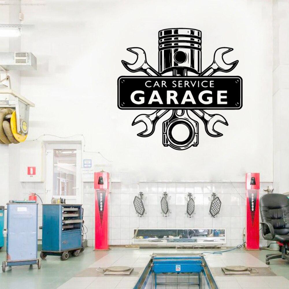 Cartoon Decal Car Repair Removable Art Vinyl Wall Stickers For Garage Rooms Art Decals Sticker Wallpaper Mural
