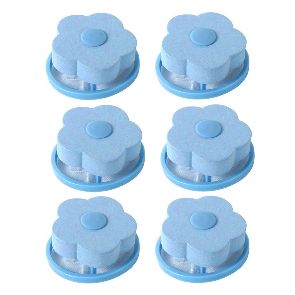 2/6 Pcs Reusable Laundry Filter Bag Washing Machine Hair Catcher Household Washing Machine Filter Laundry Balls
