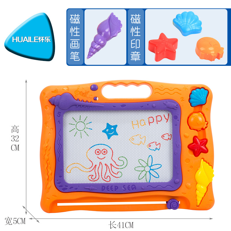 Pregnant With Music Children Large Size Educational Magnetic Drawing Board Color Sketchpad Painted Small Blackboard Set Toys Wit