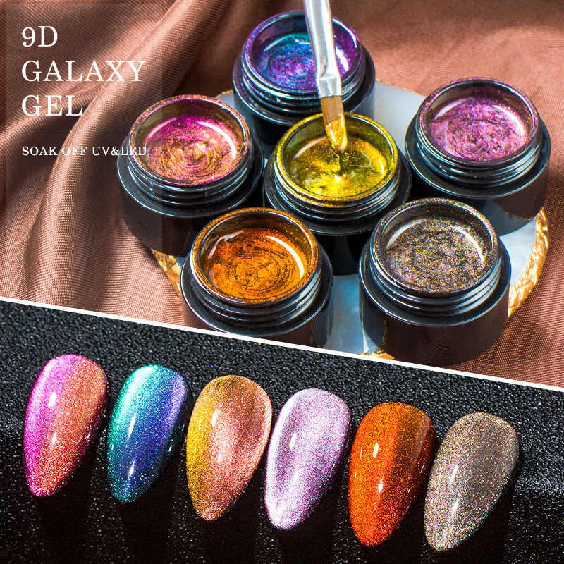 Mtssii 9D camaleón gel de uñas efecto ojo de gato polaco gel magnético UV barniz Galaxy Star remojo LED UV gel para decoración de uñas laca