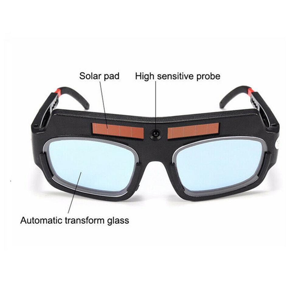 New Solar Energy Auto Darkening Welding Mask Helmet Goggle Welder Glass Arc PC Lens Large Glasses For Welding Protection