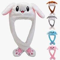Mode Niedlich Kappen Unisex Plüsch Stickerei Kaninchen Ohr Hut Wrap Warm Hut Kappe Kostüm Zubehör Geschenke Warme Hut Casquette 2021