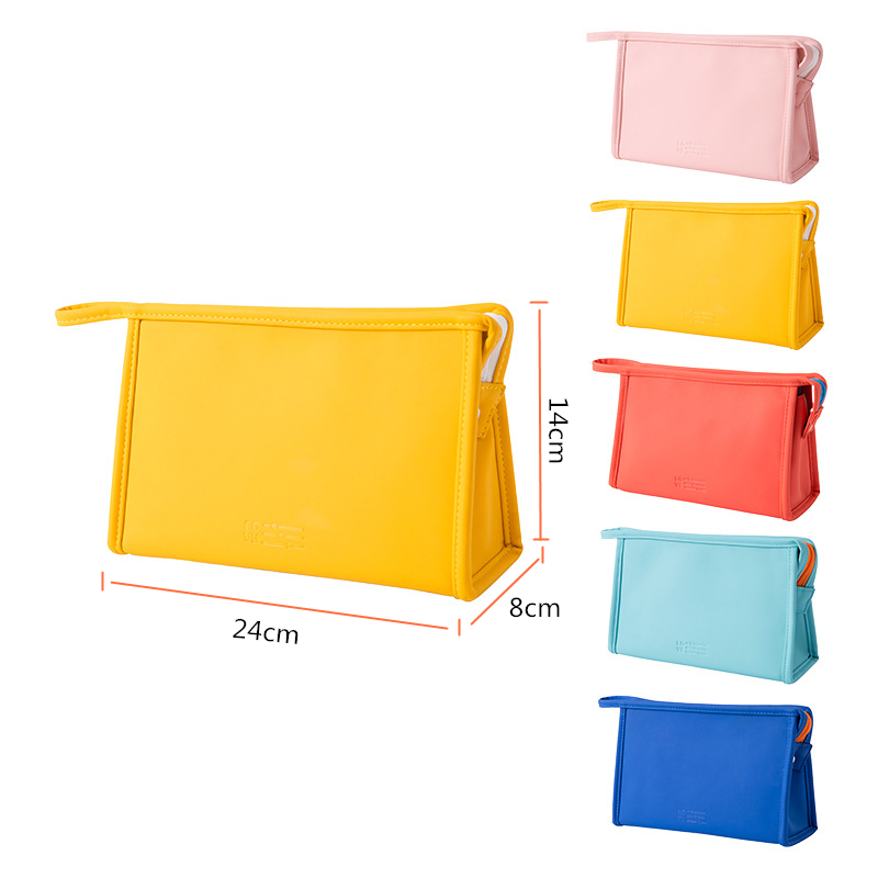 DOOZEEPA Women Make Up Makeup Bags Organizer Cosmetic Bag Candy Color Waterproof PU Portable Toiletry Bag Travel Make Up Pouch