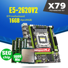 Atermiter X79 X79G اللوحة LGA2011 مصغرة ATX المجموعات E5-2620 V2 E5 2620 V2 CPU 4 قطعة x 4GB = 16GB DDR3 RAM 1600Mhz PC3 12800R(China)