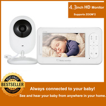 MBOSS 4.3inch Wireless Video Baby Monitor 2 Way Talk With Camera Support 4 Cameras VOX Mode Temperature Monitoring