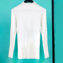 Paris Girl Women Sweater Pullover Knitted Cotton Tops Solid Ruffles Collar Jumper Print Long Sleeve Sweaters rohopo semi high collar puff long sleeve pullover sweater vertival ribbed elasticity waistband knitted thick tops 2314