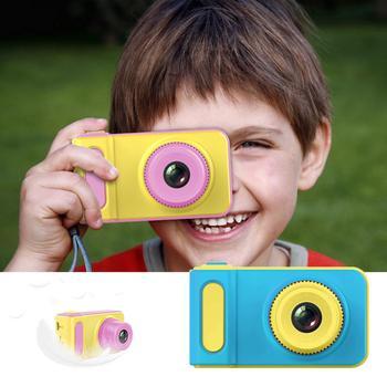 Cute Cartoon Mini 1080P inteligentne dzieci aparat cyfrowy aparat 2 Cal kreatywny aparat zabawki dzieci urodziny prezent zabawki dla malucha aparat tanie i dobre opinie Z tworzywa sztucznego 3 lat Unisex 299852 Zasilanie bateryjne Zabawki kamery